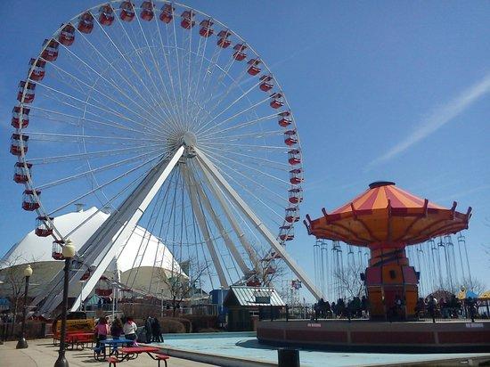Navy Pier: vuelta en la rueda con vista increible