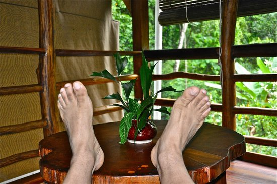 Omega Tours Eco Jungle Lodge : Comfort!  10 Toes Up for Comfort, Outdoors, & Hospitality!