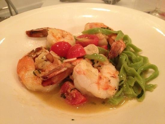 The Seafood Place: Shrimp Scampi with House made Tagliatelle