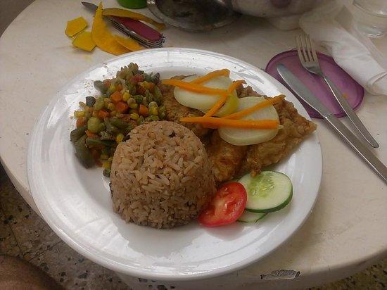 Samsara Cliffs Resort: Escovitch fish from the resort kitchen
