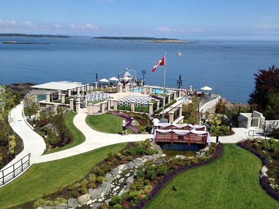 Oak Bay Beach Hotel Pools And Terrace Where Wedding Celebration Took Place