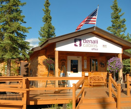 Check-in here at Denali Cabins Office