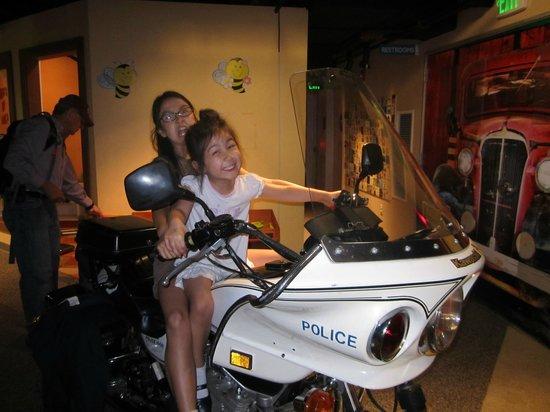 San Luis Obispo Children's Museum: police motorcycle