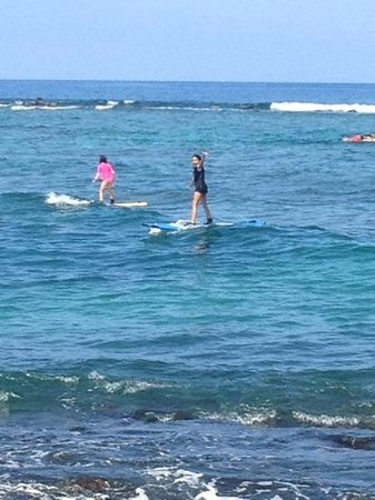 FBI Surf School: little surfer wahine