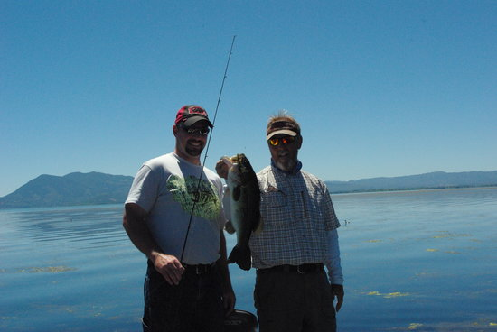 Clear Lake: My husband with Ross England (guide)