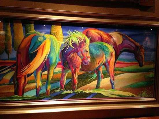 Silver Dollar Bar & Grill: Painting in the main dining room of the Silver Dollar