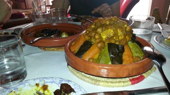 Riad de la Belle Epoque : Magnifica comida en el Riad