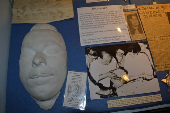 John Dillinger Death Mask Picture Of Silver State