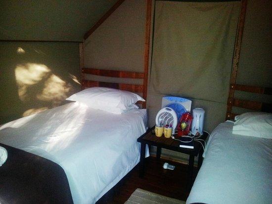 Oranjerus Resort: Safari Tent interior