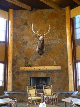 Comfort Inn Flagstaff : Large fire place