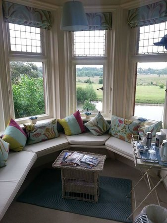Tower House in Chester: The tower room window seat