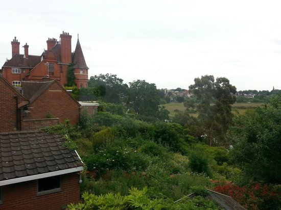 Tower House in Chester: View from the bathroom of Author Thomas Hughes house(Tom Browns schooldays)