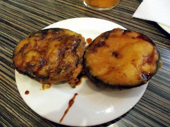 El Restaurante Pizarro Taberna: Berenjenas con miel,riquísimas.