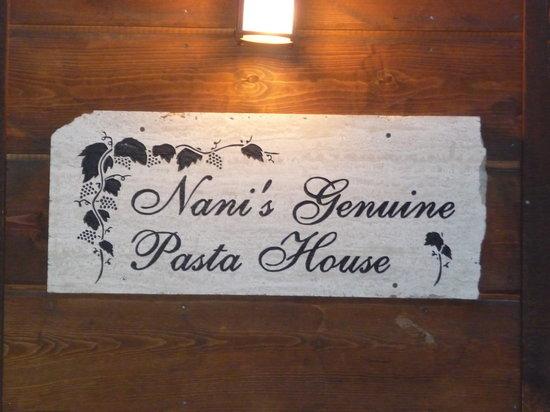 Nani's Cucina Italiana : NANI'S CUCINA