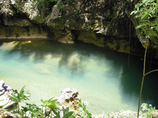 duPlooy's Jungle Lodge: Cool & clear water of jaguar paw cave tubing!