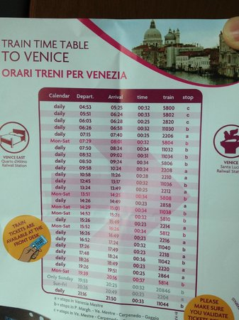 Crowne Plaza Venice East-Quarto d'Altino: Multiple direct trains from the Hotel to Venice (JUN2013)