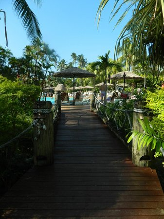 Outrigger Fiji Beach Resort: One of the many beautiful walkways around the resort