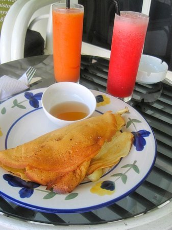 Gardenia Guesthouse : fresh papaya and watermelon juice