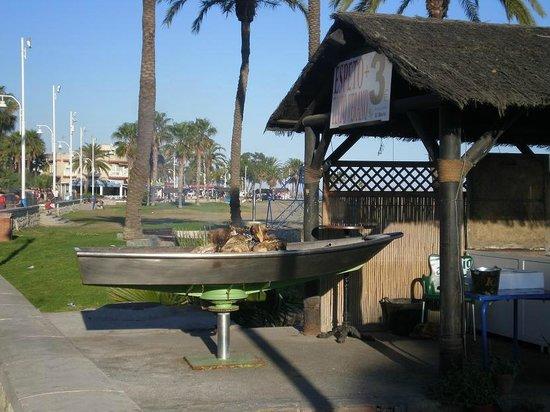 Playas de Las Acacias: restaurantes
