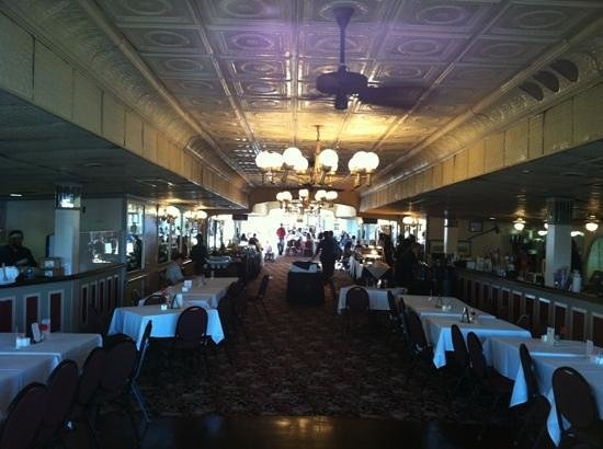 Gray Line Cemetery and Voodoo Walking Tour: dinning area onboard the Natchez