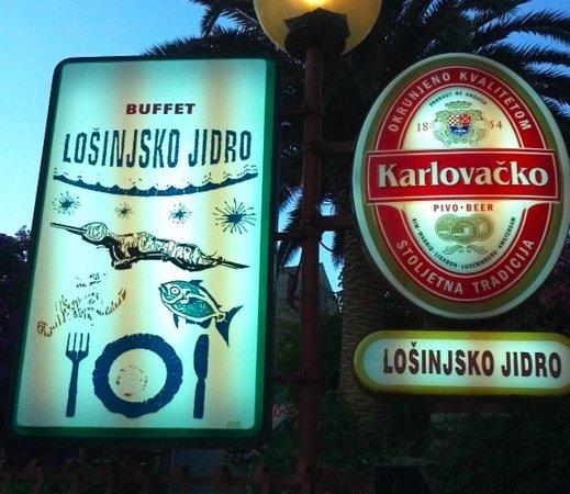 Restoran Losinjsko Jidro: Eingang