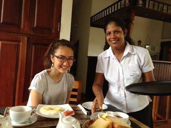 Unawatuna Nor Lanka Hotel: Breakfast