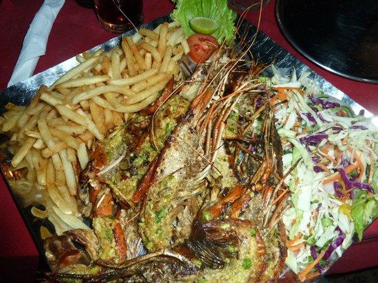 Lucky Tuna : Great prawns...
