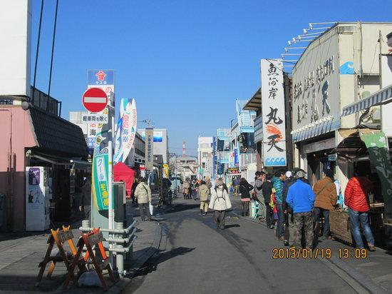 Numazu, Japon : 沼津港の商店街