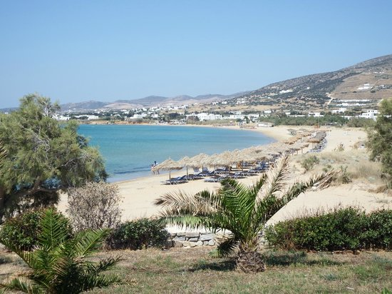 Poseidon of Paros: view from room across beach