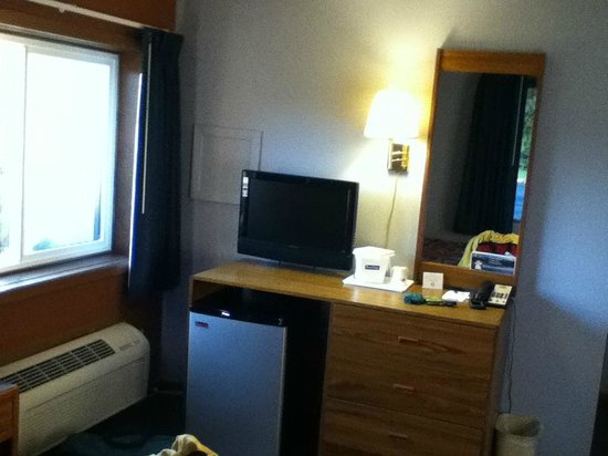 Travelodge Motel of St Cloud: Fridge and television