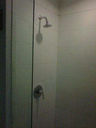 Grand Zuri Hotel Jababeka: Shower booth with no soap basket