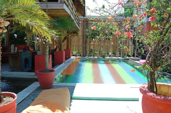 Alola Inn: Pool, mit Bar (links)