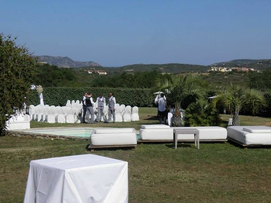 Hotel Ollastu Residence: Set up for wedding