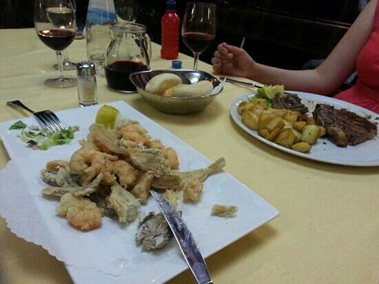 Ristorante Lido: steak and fried fish yummy