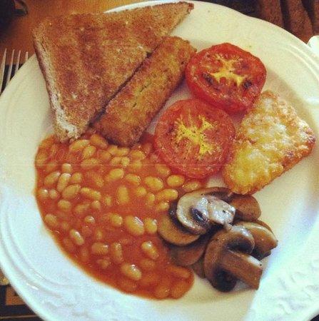 Veggie Breakfast @ Plas Antaron Hotel, Aberystwyth