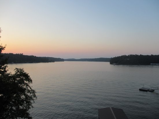 Lewis-Smith Lake & Dam: Sunset over Smith Lake