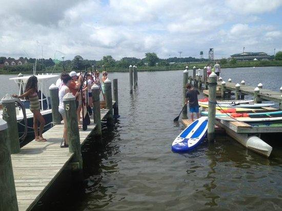 Walk On Water: Sandy Deeley demonstrating proper technique