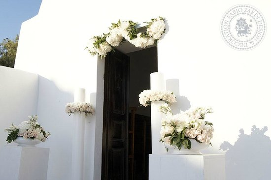 Fabio Zardi Floral Design & Decoration: Greek wedding - Floral design & wedding decoration by Fabio Zardi