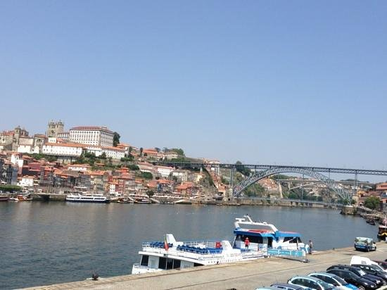 Real Indiana : view of Douro River from our lunch seats - beautiful!!!