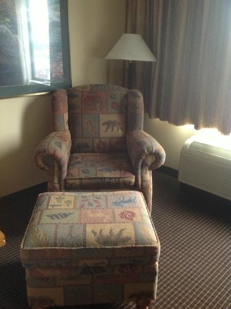 Best Western Plus Holland Inn & Suites: chair and ottomon