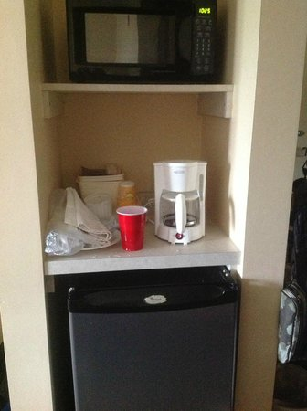 Best Western Plus Holland Inn & Suites: Microwave,Fridge and coffeemaker There was old used tea bag inside the coffeemaker