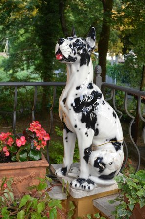 Hotel Miralago : Ceramic dog greets you at the entry