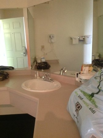 Baymont Inn & Suites Mackinaw City : counter space