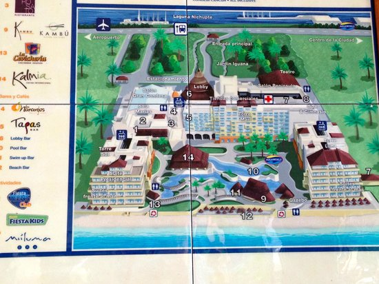 FACC Map - Picture of Fiesta Americana Condesa Cancun All Inclusive ...