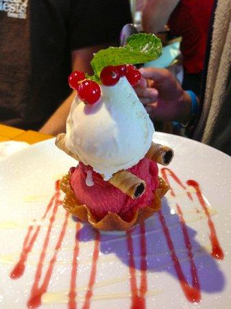 Gwesty Cymru: Lovely ice cream dessert