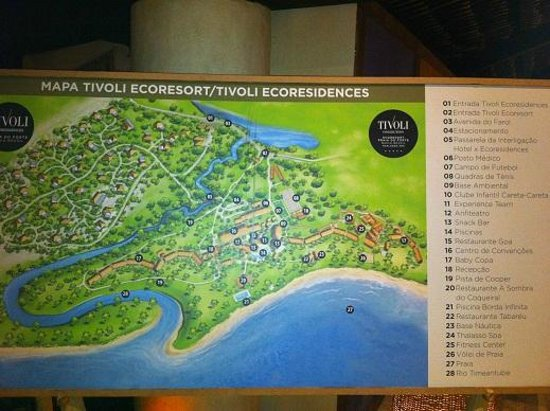 Tivoli Ecoresort Praia do Forte: Resort map