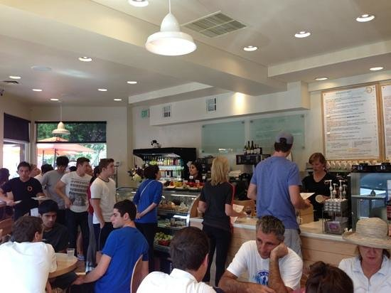 Peach's Corner Cafe: Line to order breakfast on 4th of July