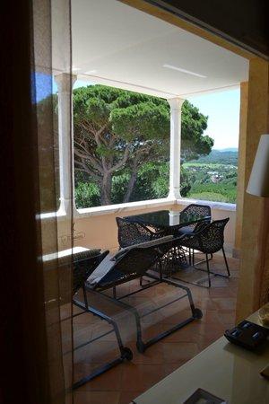 Chateau De La Messardiere : The View prom Pampelonne suite