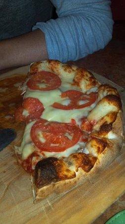 Pizza By the Pound: tomato, onion, mushroom