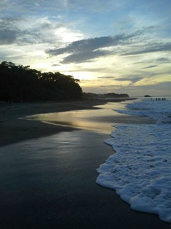 Caribe Town: Cocles beach by sunset!